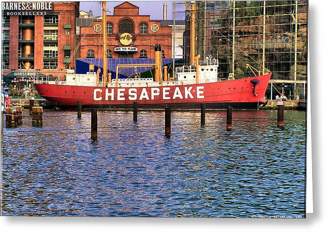 Hard Rock Cafe Building Greeting Cards - Chesapeake Greeting Card by Brian Wallace