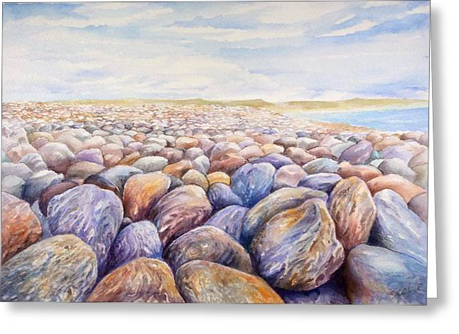 Outdoors Greeting Cards - Chesil Beach Greeting Card by Merv Scoble