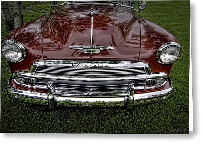 Red Chev Greeting Cards - Chev 4 Greeting Card by Jerry Golab