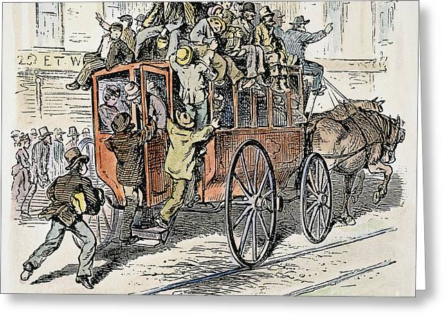 Omnibus Greeting Cards - Chicago Omnibus, 1882 Greeting Card by Granger