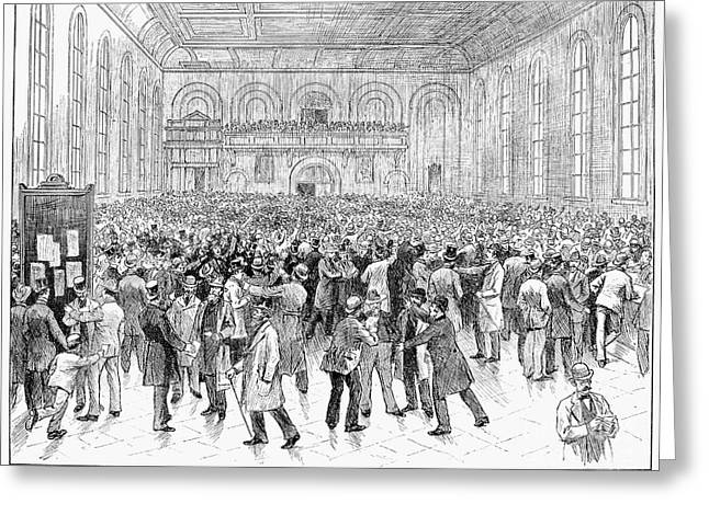 Stockbroker Greeting Cards - Chicago Stock Exchange Greeting Card by Granger