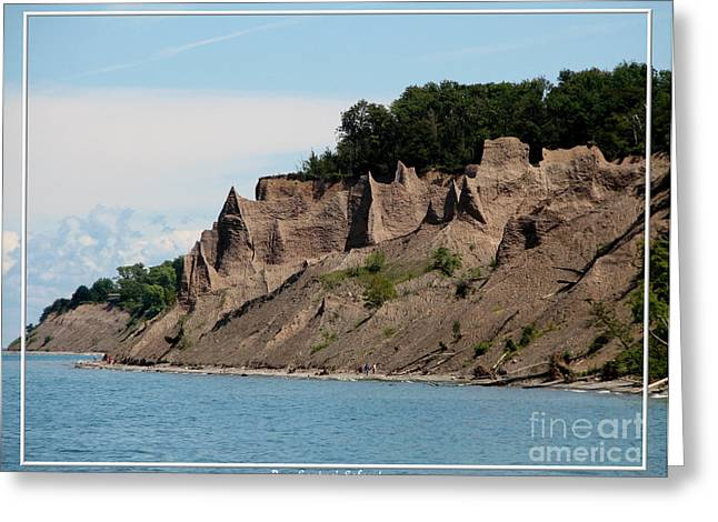 Chimney Bluffs On Lake Ontario Greeting Card by Rose Santuci-Sofranko