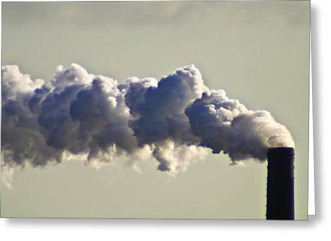 Unhygienic Greeting Cards - Chimney Emitting Smoke Greeting Card by Chris Knapton