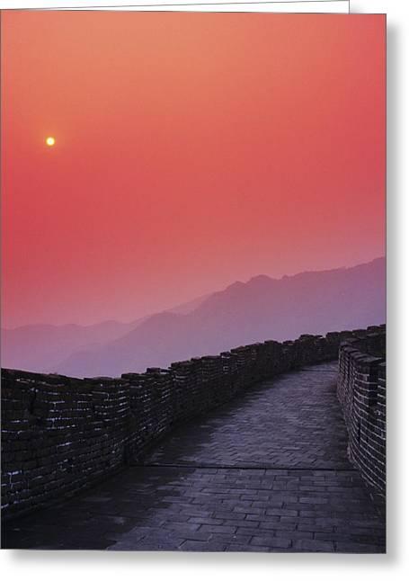 Haze Greeting Cards - China, Mu Tian Yu Greeting Card by Gloria & Richard Maschmeyer - Printscapes