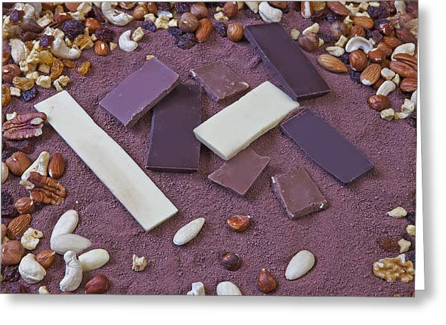 Sugared Almonds Greeting Cards - Chocolate Greeting Card by Joana Kruse