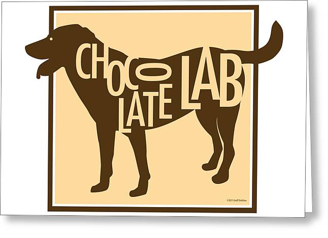 Labrador Greeting Cards - Chocolate Lab Greeting Card by Geoff Strehlow