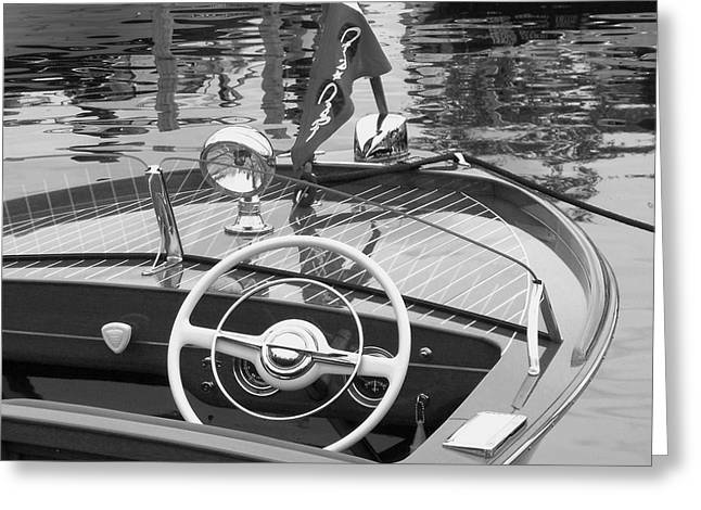 Vintage Boat Greeting Cards - Chris Craft Sportsman Greeting Card by Neil Zimmerman
