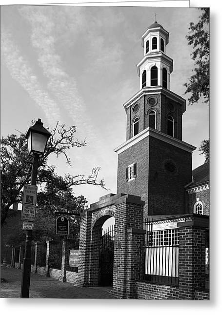 Old Christ Church Greeting Cards - Christ Church Episcopal III Greeting Card by Steven Ainsworth