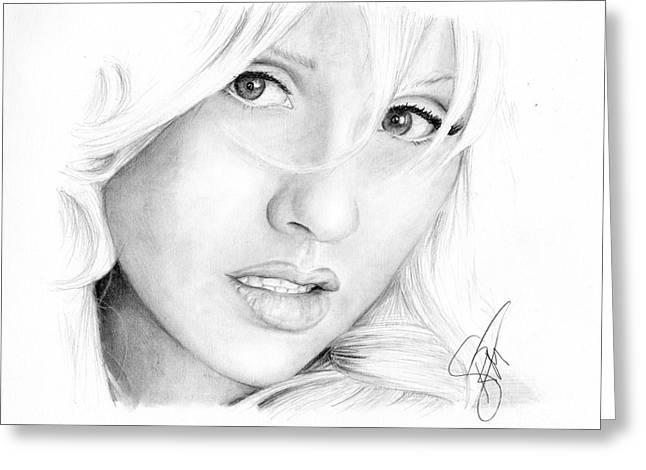 Christina Aguilera Greeting Cards - Christina Aguilera Greeting Card by Rosalinda Markle