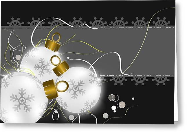 Postal Drawings Greeting Cards - Christmas background   Greeting Card by Chih-Chung Johnny Chang