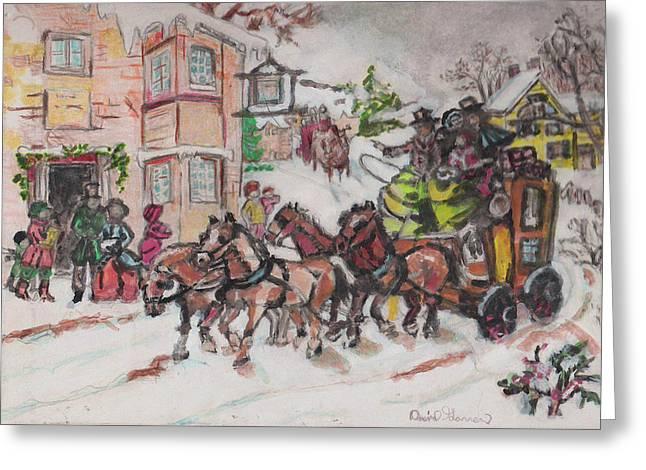 Christmas Buggy Greeting Card by David Garren