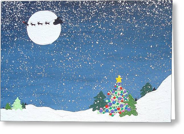 Decorated For Christmas Greeting Cards - Christmas eve Greeting Card by Paula Weber