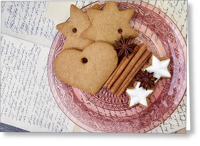 Dessert Photographs Greeting Cards - Christmas Gingerbread Greeting Card by Nailia Schwarz