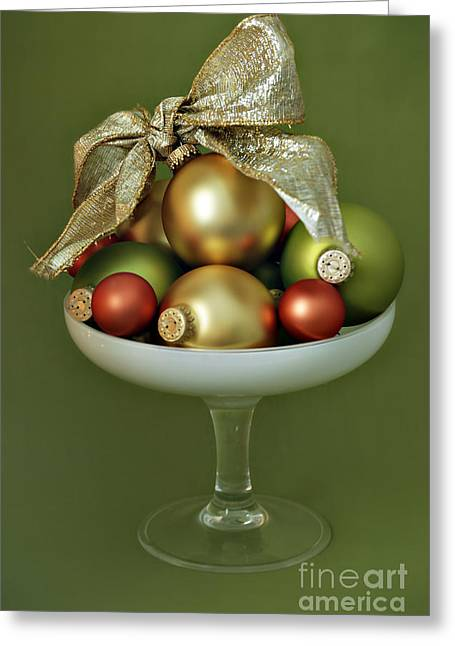 Goblet Greeting Cards - Christmas Ornament Greeting Card by HD Connelly