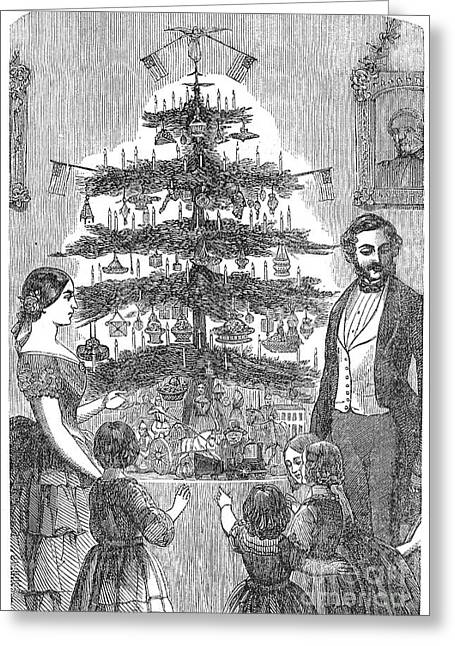 Christmas Tree, 1864 Greeting Card by Granger