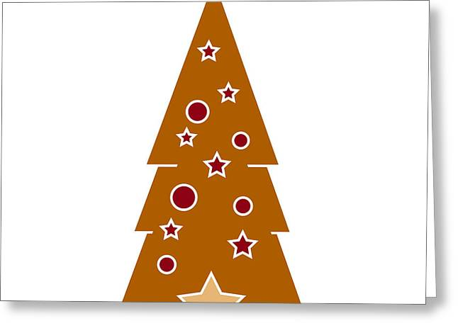 Christmas Greeting Drawings Greeting Cards - Christmas Tree Greeting Card by Frank Tschakert