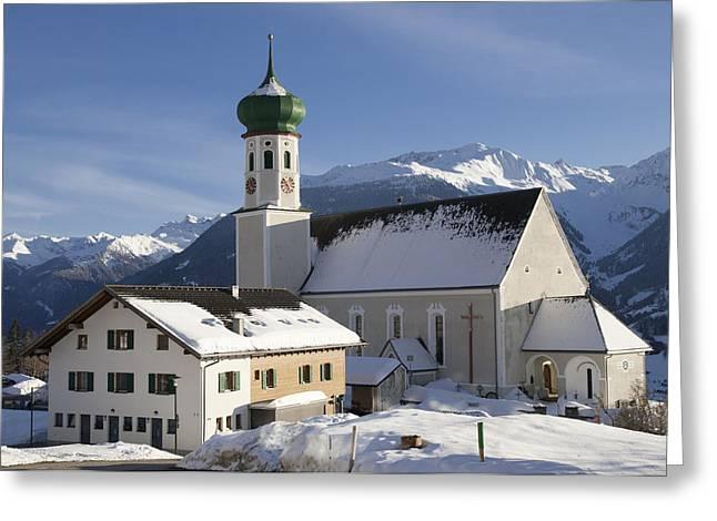 Church in winter Greeting Card by Matthias Hauser
