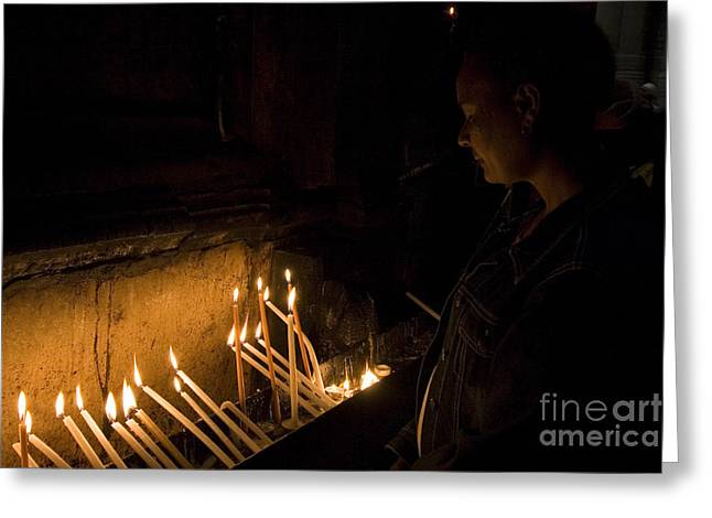 The Followers Photographs Greeting Cards - Church of the Holy Sepulchre Greeting Card by Danny Yanai