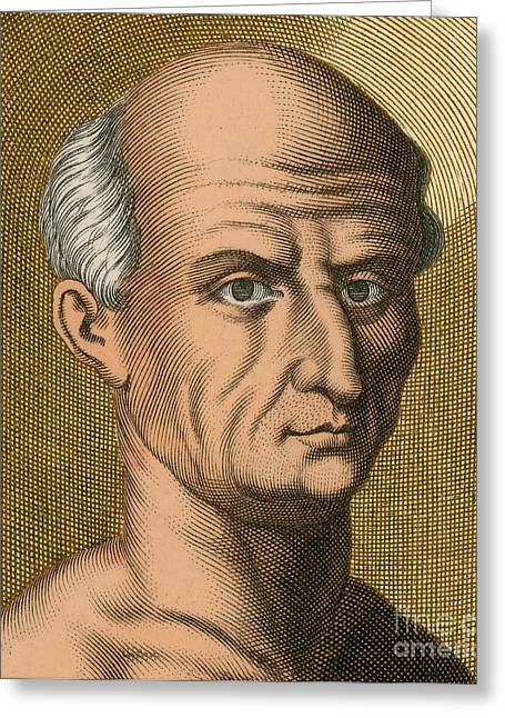 Orator Greeting Cards - Cicero, Roman Philosopher Greeting Card by Photo Researchers