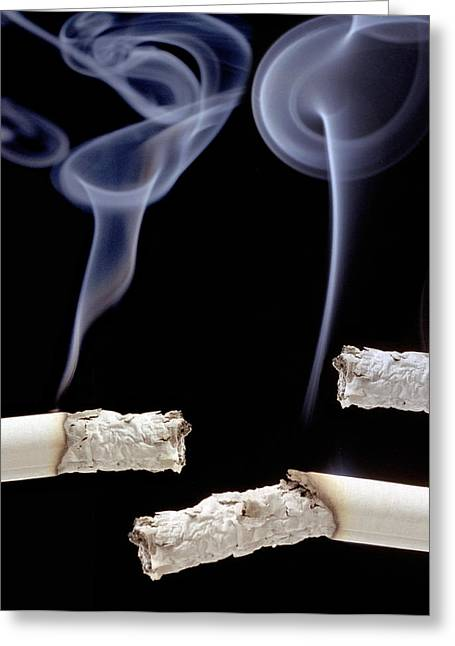 Carcinogenic Greeting Cards - Cigarettes Greeting Card by Victor De Schwanberg
