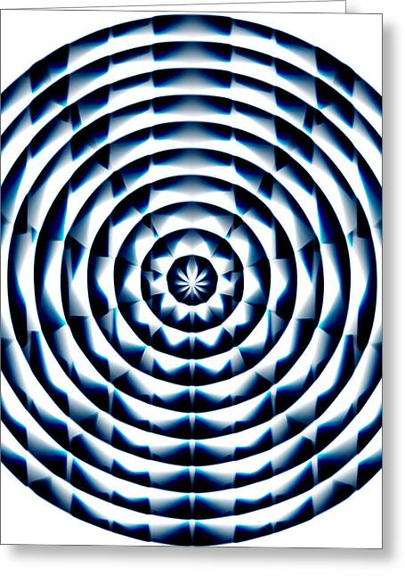 Fractal Orbs Paintings Greeting Cards - Circle Flower Greeting Card by Christopher Gaston
