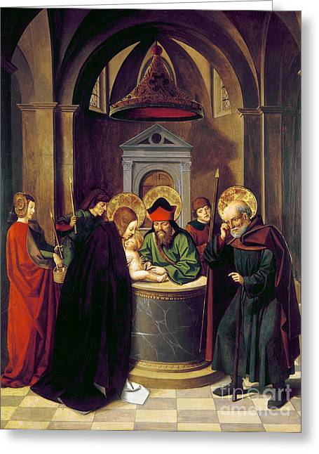 1493 Greeting Cards - Circumcision Of Christ Greeting Card by Granger