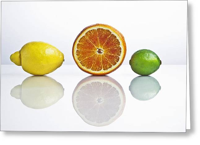 Citrus Greeting Cards - Citrus Fruits Greeting Card by Joana Kruse