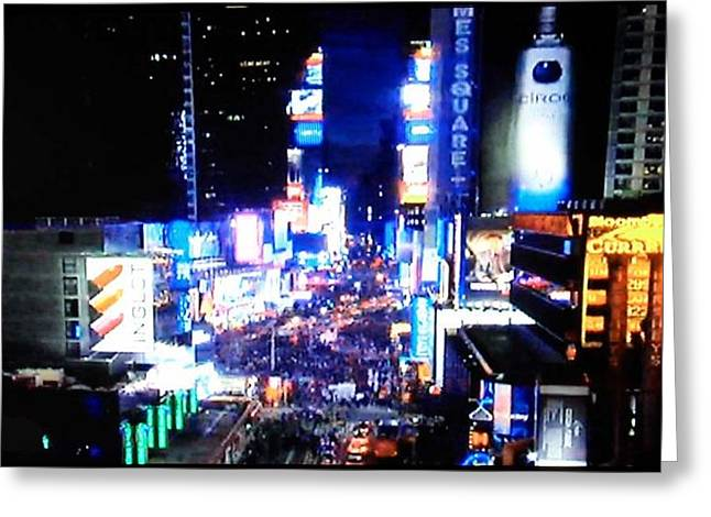 City Lights Greeting Card by Val Oconnor
