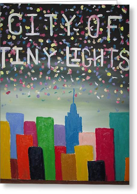 Forrest Kelley Greeting Cards - City Of Tiny Lights Greeting Card by Forrest Kelley
