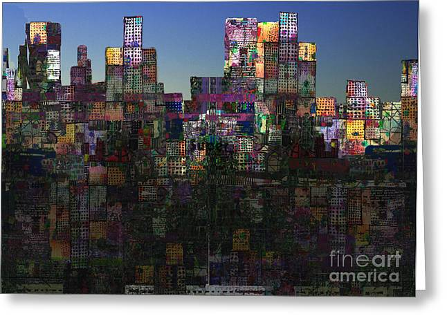 Masts Digital Art Greeting Cards - City Sunrise  Greeting Card by Andy  Mercer