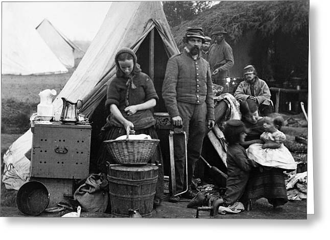 Pennsylvania Photographs Greeting Cards - Civil War: Camp Life, 1861 Greeting Card by Granger