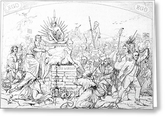 Pro-slavery Greeting Cards - Civil War Cartoon, 1862 Greeting Card by Granger