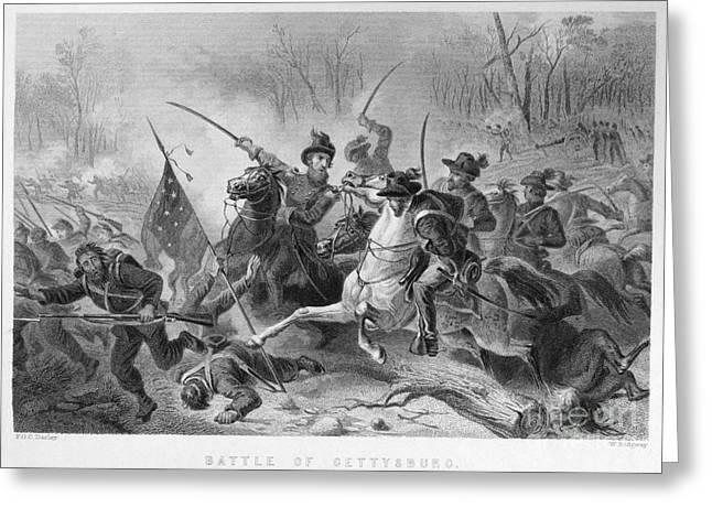 War Dead Greeting Cards - Civil War: Gettysburg, 1863 Greeting Card by Granger