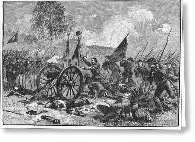 Confederate Flag Greeting Cards - Civil War: Gettysburg Greeting Card by Granger