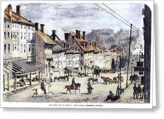 Post-civil War Greeting Cards - Civil War: Richmond, 1862 Greeting Card by Granger