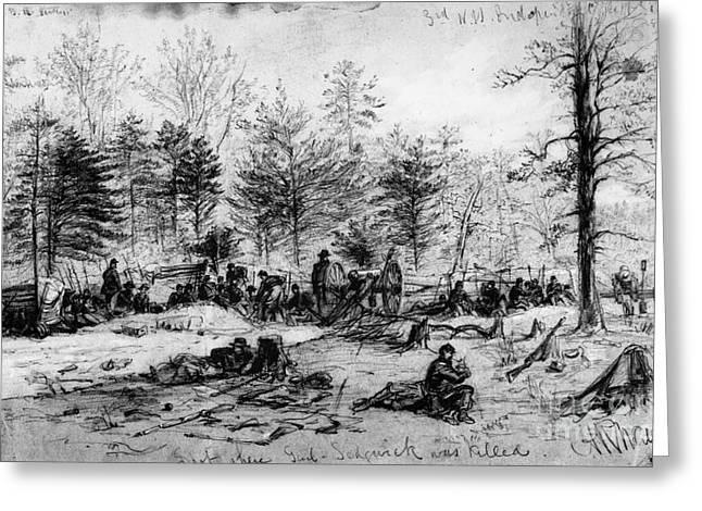 Civil War: Spotsylvania Greeting Card by Granger