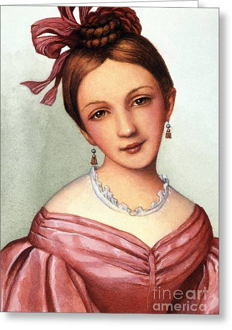 Decolletage Greeting Cards - Clara Schumann (1819-1896) Greeting Card by Granger