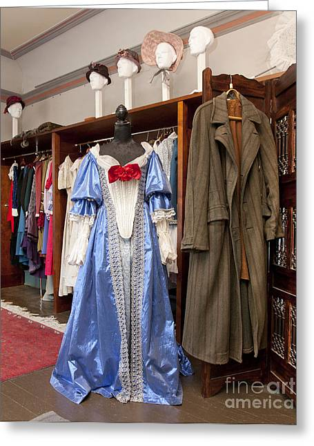 Dressing Room Greeting Cards - Classic Fashions in a Closet Greeting Card by Jaak Nilson