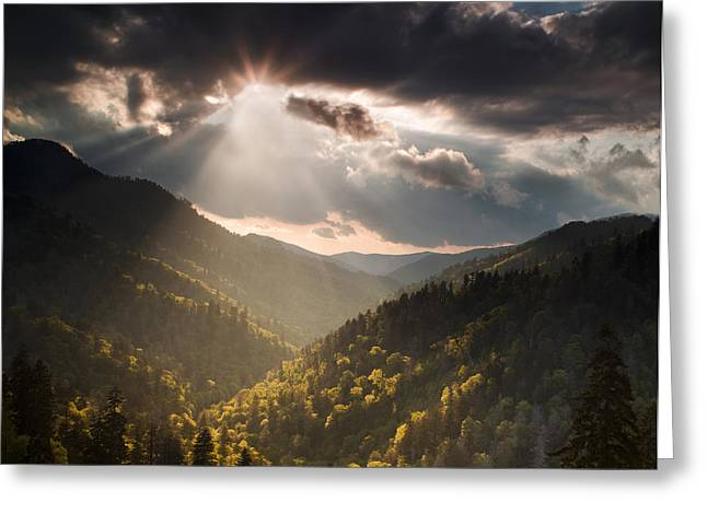 Great Smoky Mountains Greeting Cards - Clearing Storm Greeting Card by Andrew Soundarajan