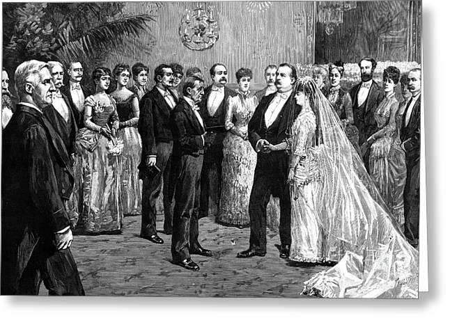 Tuxedo Greeting Cards - Cleveland Wedding, 1886 Greeting Card by Granger