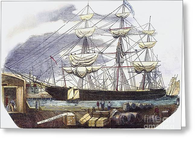 1850s Greeting Cards - Clipper Ship, 1851 Greeting Card by Granger