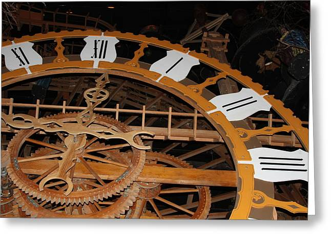 Clock Work Greeting Card by Mike Stouffer