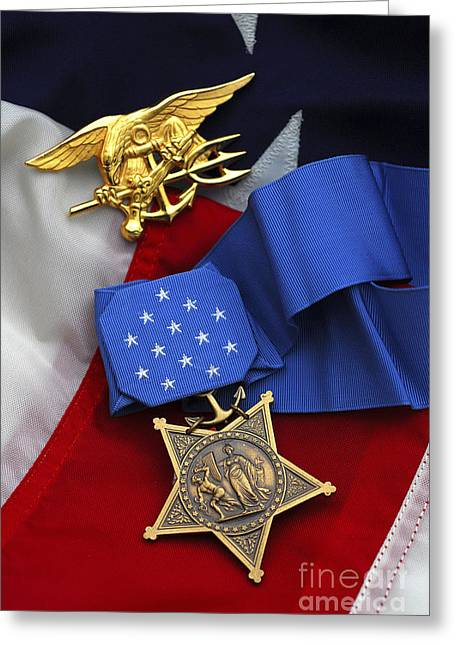 Award Greeting Cards - Close-up Of The Medal Of Honor Award Greeting Card by Stocktrek Images