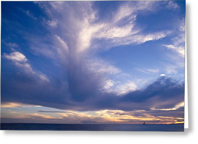 Cloud Formations Greeting Card by Mary Van de Ven - Printscapes