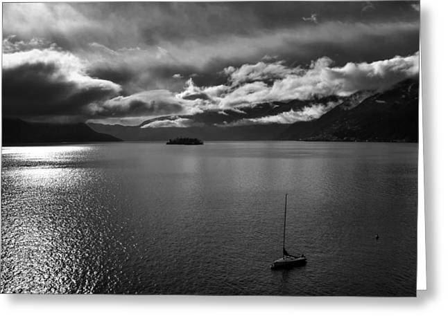 Lago Greeting Cards - clouds over the Lake Maggiore Greeting Card by Joana Kruse