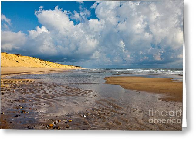 Marconi Beach Greeting Cards - Cloudscape Greeting Card by Susan Cole Kelly