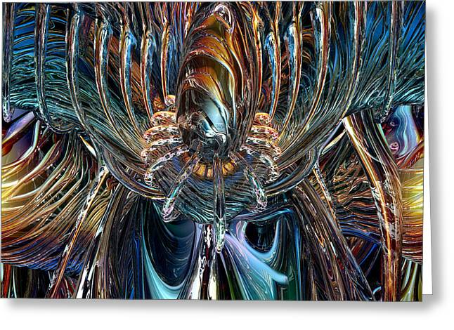 20 X 16 Greeting Cards - Clutches of Eternity Fx  Greeting Card by G Adam Orosco