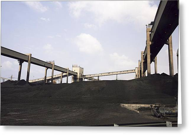 Power Plants Greeting Cards - Coal Operated Power Plant Greeting Card by Photostock-israel