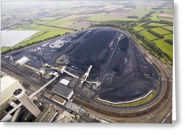 Most Photographs Greeting Cards - Coal Supplies For A Power Station Greeting Card by Colin Cuthbert