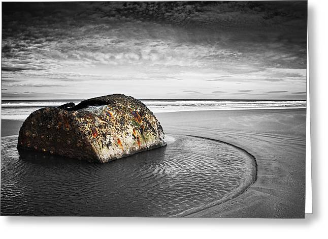 Ocean. Reflection Greeting Cards - Coastal Scene Greeting Card by Svetlana Sewell